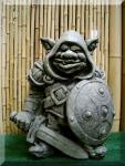 Steinfigur Burgwächter Troll, Figur aus Steinguss