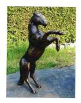 Bronzefigur steigendes Pferd, Figur aus Bronze Pferde