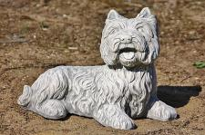 Hund Westie aus Steinguss Hunde
