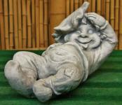 Steinfigur Wichtel, Troll aus Steinguss