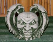 Steinfiguren Gargoylekopf, Figur aus Steinguss