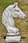 Steinfigur Springer, aus Steinguss Pferde