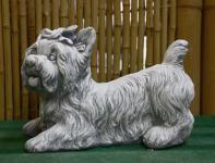 Steinfigur Yorkshire, Hund aus Steinguss Hunde
