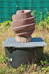 Wasserspiel Spiral Brunnen, Komplettangebot, Brunnen mit Zubehör