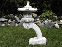 Steinfigur Rankei Laterne aus Steinguß für Garten Teich KOI