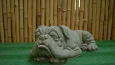 Steinfigur Bulldogge, Hund aus Steinguss Hunde