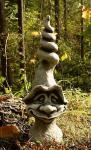 Steinfiguren Spirlus, Figur aus Steinguss, Pilz Kopf