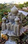Das Taj Mahal, als Teelichthalter geeignet, Skulptur aus Steinguss