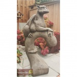 Steinfiguren Drache Yolande, Fantasyfigur aus Steinguss, aus der Serie Pheebert's, von Fiona Scott