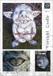 Steinfigur Lachender Troll, Figur aus Steinguss