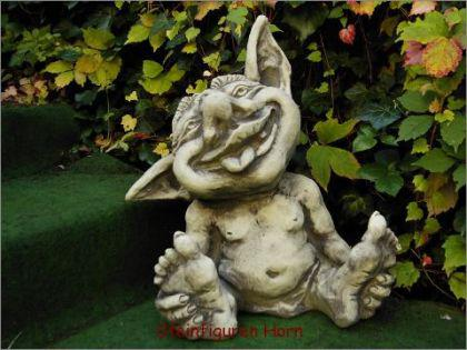 Steinfigur Baby Troll Justus, Figur aus Steinguss - Vorschau