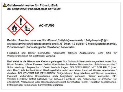 Bindulin Flüssig-Zink 250 ml Dose Farbe: silber - Vorschau 2