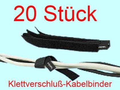 Kabelbinder Klett 20er Klettkabelbinder Klett Vers