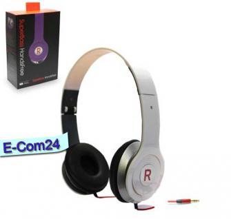 Premium High Defination Superbass Music Kopfhörer 3,5mm Klinke weiss für PC Iphone, Samsung Smartphone MP3 Player