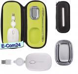 Design Travel Kit für Notebook und PC, Optische Maus, 800 DPI mit Scrollfunktion und USB-Rückzugkabel plus 4-fach USB Hub