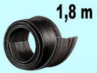 Flexibler schwarzer 1,8m Kabelschlauch Klettversch