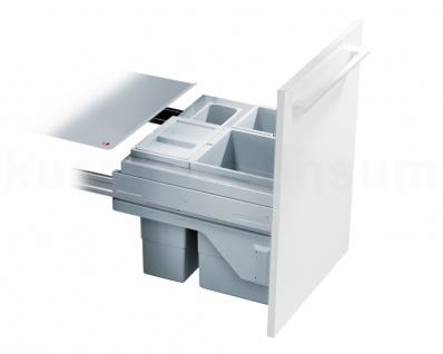 Hailo Mülleimer Cargo Slide Soft 3610-54 Abfallsammler Einbau 50cm Schrank 35 L
