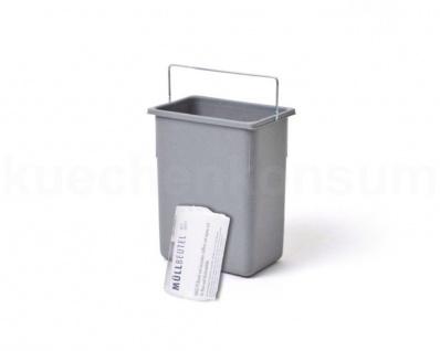 Hailo 8, 5 L Ersatzeimer 109408 grau Abfallsammler 40 Müllbeutel Mülleimer Henkel