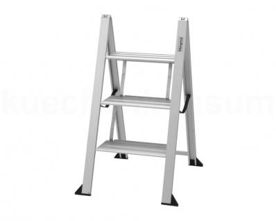VIKINGSTEP 3 Maxi 72 Leiter Aluminiumleiter Trittleiter Küchenleiter Klappleiter