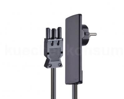 Schulte Evoline Plug Flachstecker mit Anschlusskabel und Wieland Stecker schwarz