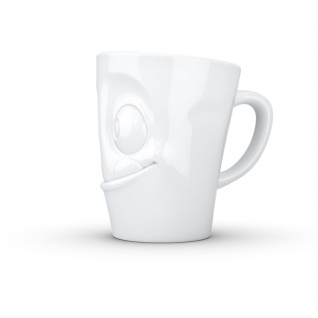 Henkeltasse Teetasse lecker ws Gesichtstasse TV Tasse Kaffeebecher Kaffeepott