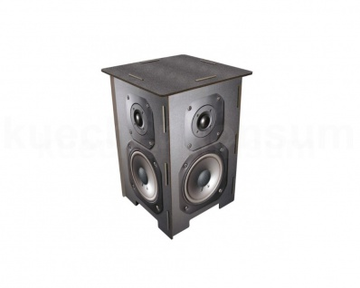 Werkhaus Photohocker Lautsprecherbox Beistelltisch Tritt Nachtschränkchen SH8121