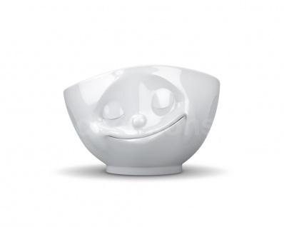 TV Tasse XL Schale 24 glücklich Schüssel Müslischale Porzellan weiß fifteight