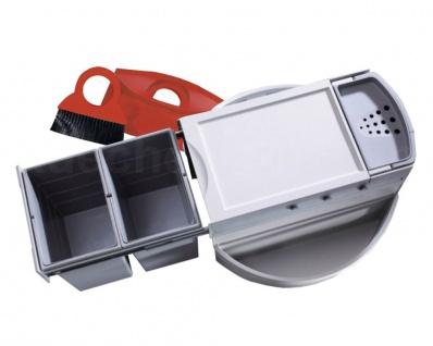 Hailo Rondo Comfort 3645-22 Eckabfallsammler 90.2/40 P Abfalleimer Einbau 2x 20L