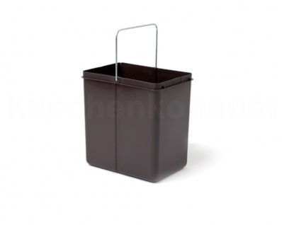 Hailo 20 Liter Ersatzeimer 1082599 graubraun für Solo Swing Abfallsammler