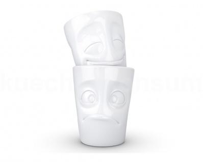 TV Tasse Becher Teetasse 2er Set Gesichtstasse Kaffeebecher Kaffeepott Becherset