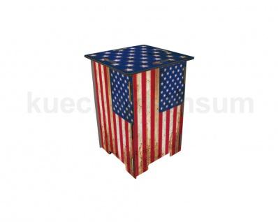 Photohocker Flagge USA Beistelltisch Steighilfe Tritt Hocker Nachttisch Neu