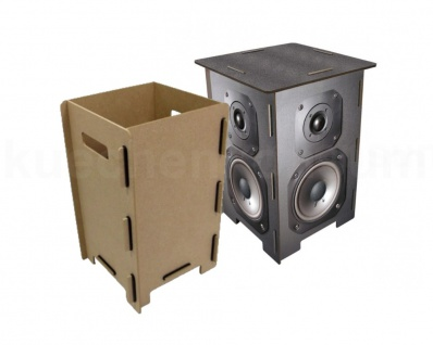 Werkhaus Photohocker Lautsprecherbox mit Hockerbox Beistelltisch Tritt SH 8121