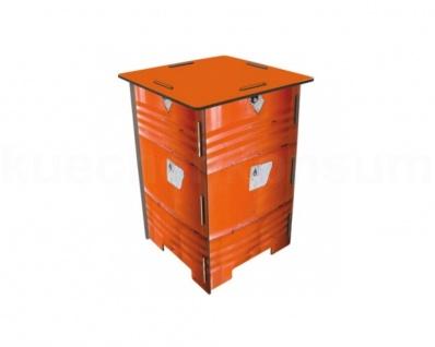 Werkhaus Photohocker Beistelltisch Tritt Nachtschränkchen Ölfass oran Sitzhocker