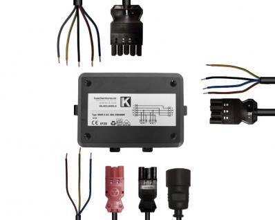 Power Splitter 4fach Kochfeld Backofen Geschirrspüler Anschluss Energieverteiler