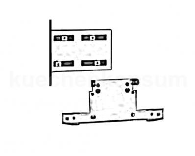 Montage Adapter Wesco Abfallsammler der Runde Mittelpfosten oder Spülenschrank