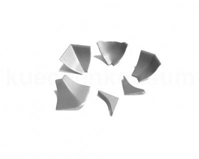 Wandabschlußprofil Piccolo 14 Ersatz Endkappe Winkelstück grau WAP Dichtprofil