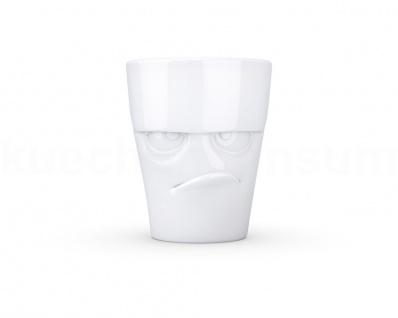 Henkeltasse Teetasse grummelig ws Gesichtstasse TV Tasse Kaffeebecher Kaffeepott