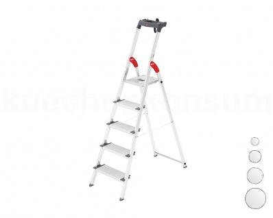 Hailo Leiter Alu-Sicherheits-Stufenstehleiter ProfiLine S 150 XXL von 3-8 Stufen
