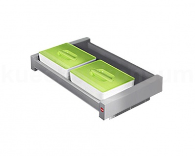 Hailo On-Top Auszug mit 2x 4 Liter Behälter und Deckel Vorratbox Schrankauszug