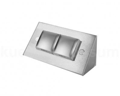Ecksteckdose Edelstahl Thebo Deckel Silber Power Port Energiebox 17916 Steckdose