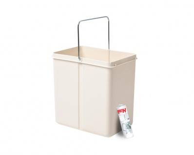 Hailo 20 Liter Ersatzeimer 1082489 cremeweiß für Solo Abfalltrennsystem