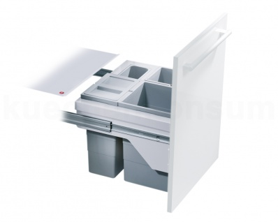 Hailo Abfallsammler Cargo-Basic CB Slide 50.3/30 Einbau Abfalleimer Mülleimer