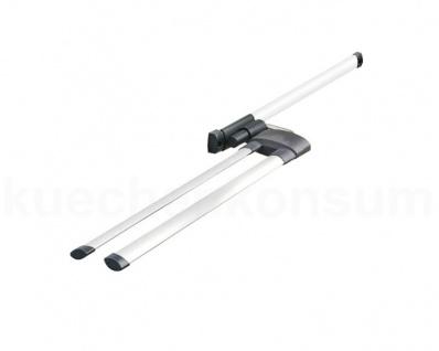 Hailo Secco Alu Line Handtuchhalter ausziehbar Aluminium 2-armig Handtuchstange