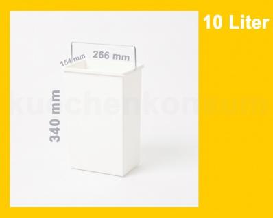 Hailo Ersatzeimer 10 Liter 1045629 weiß eckig für Terzett 3666-03 - Vorschau 3
