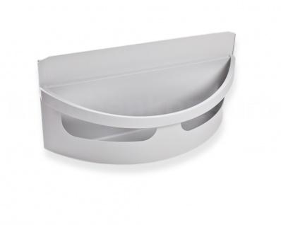 Hailo Seitenschale 1068039 hohe Version für Rondo grau Eckabfallsammler