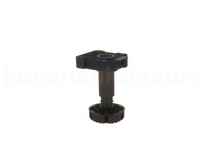 Sockelfuß Stellfuß Möbelfuß Sockelhöhenversteller Stützfuß Kunststoff 140-162 mm