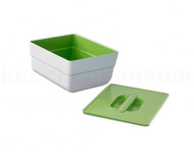 Hailo On-Top Behälter weiß Deckel hellgrün 4 Liter Mehrzweckbehälter Kunststoff
