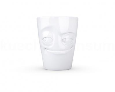 Henkeltasse Teetasse verschmitzt Gesichtstasse TV Tasse Kaffeebecher Kaffeepott