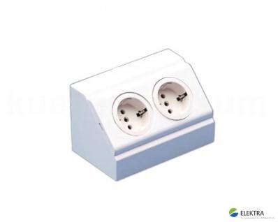 Ecksteckdose EBE-W2 Energiebox PowerPort Verteilersteckdose weiß Stromverteiler