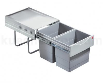 Hailo Raumspar-Tandem 2x18 L Abfallsammler Mülleimer Einbauabfalleimer Mistkübel